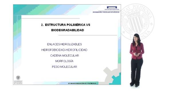 Estructura polimérica vs biodegradabilidad