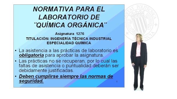 Normativa del laboratorio de Química