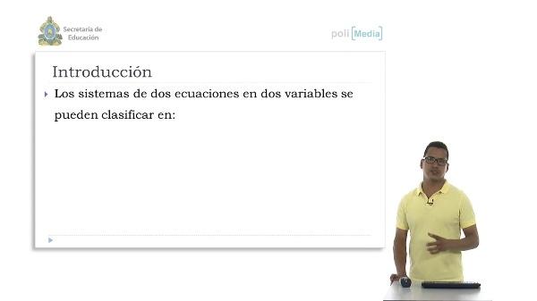 Clasificación de los sistemas de ecuaciones lineales en dos variables