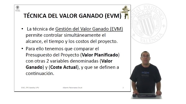 Gestión del Valor Ganado (EVM)