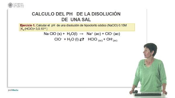 Lección 4. Cálculo del pH de una sal (ejercicios).