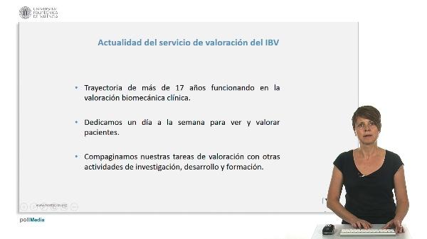 Actualidad del servicio de valoración biomecánica