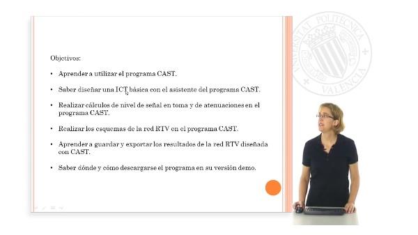 Simulación de una instalación RTV en una ICT utilizando el programa CAST de Televés