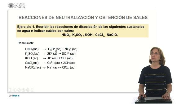 Reacciones de neutralización obtención de sales (ejercicios prácticos)