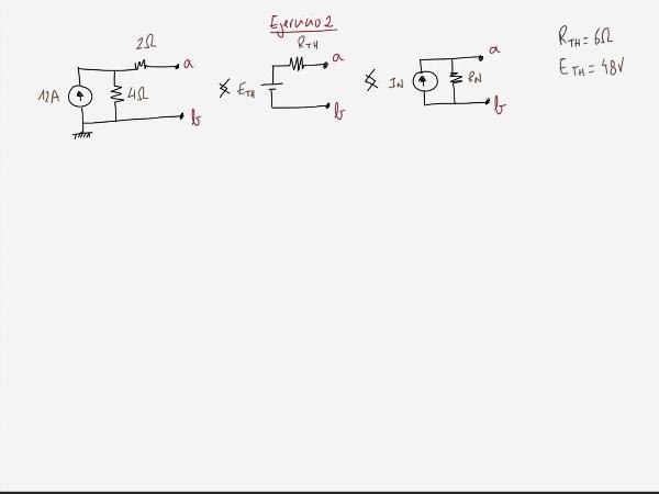 Teoría de Circuitos 1. Lección 3. 8.4.3 Cálculo intensidad equivalente Norton. Ejercicio 2