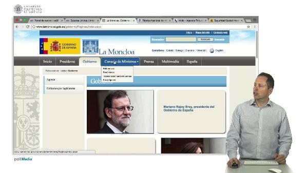 Webs institucionales de España