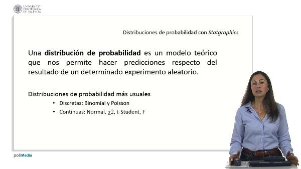 Distribuciones continuas de probabilidad con Statgraphics