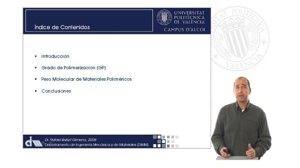 Grado de Polimerización y Peso Molecular de Materiales Poliméricos