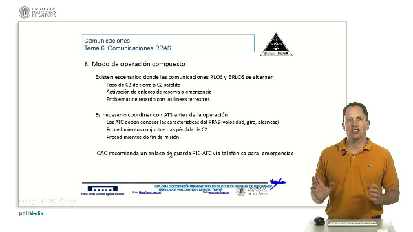 Máster pilotaje rpas. Comunicaciones RPAS combinadas RLOS, BRLOS
