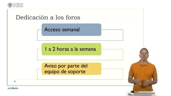 Las opciones de administración del LMS. Dedicación a los foros