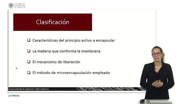 Clasificación de microcápsulas.