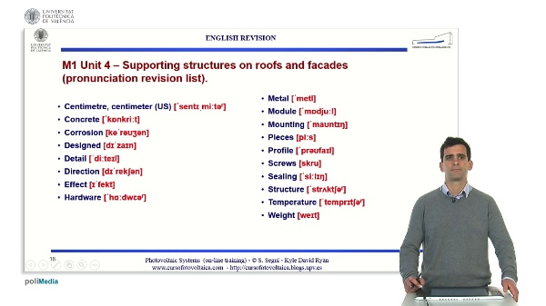 M1.U4. Supporting structures on roofs and facades. English Grammar / spelling revision