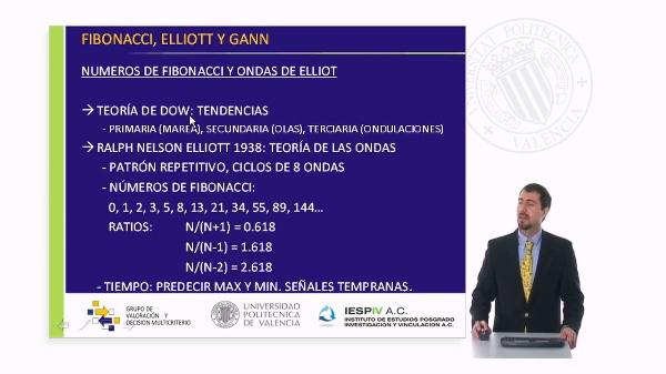 Números de Fibonacci, ondas de Elliot y modelo de Gann