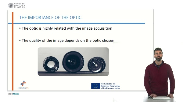 Optics and filters for artificial vision quality control.