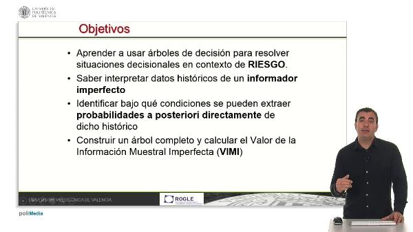 Árboles de decisión con información muestral imperfecta