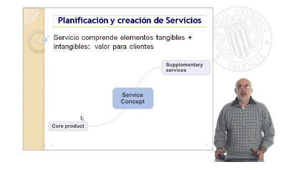Desarrollo concepto Servicio: Elemento central y suplementarios