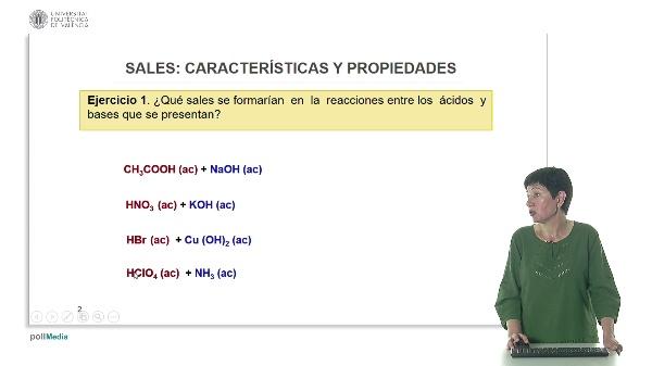Sales: características y propiedades (ejercicios)