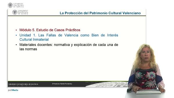 La Protección del Patrimonio Cultural Valenciano. Módulo 5. Unidad 1.
