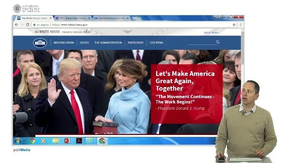 Buscar en Internet. Información administrativa Estados Unidos