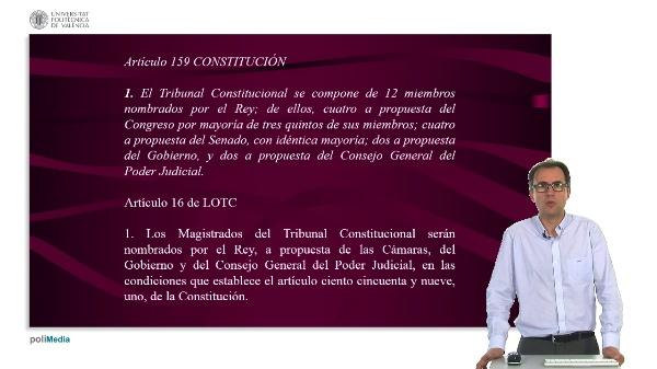 La elección de los miembors del Tribunal Constitucional