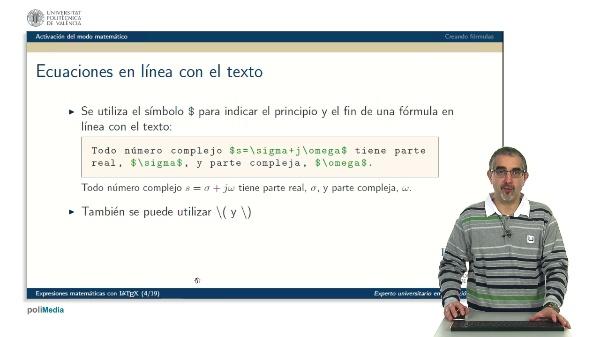 Expresiones matematicas con LaTeX