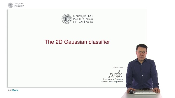 The 2D Gaussian classifier