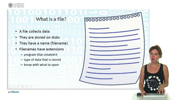 Databases, Files and Datawarehousing: Files and File types