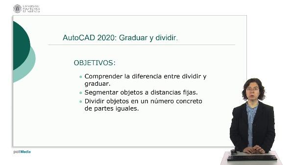 AutoCAD 2020: Graduar y dividir.