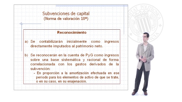 Subvenciones de capital en el borrador de PGC adaptado a las NIIF