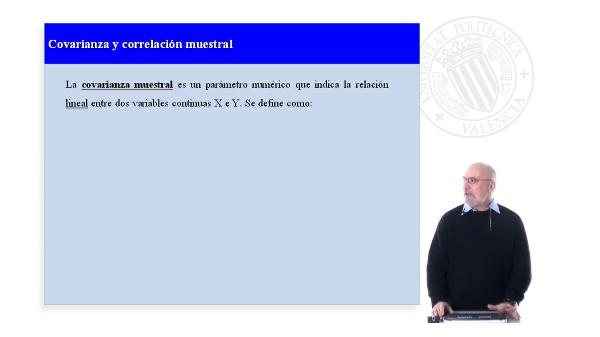 Covarianza y correlación muestral