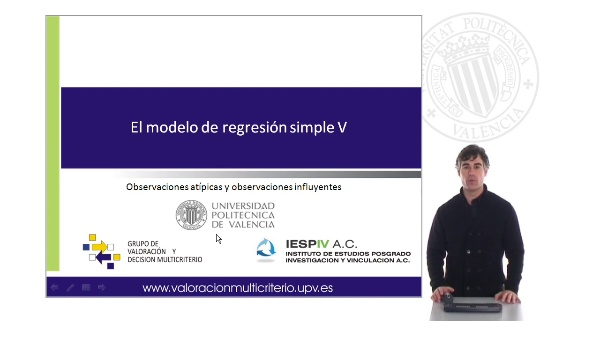El modelo de regresión simple V