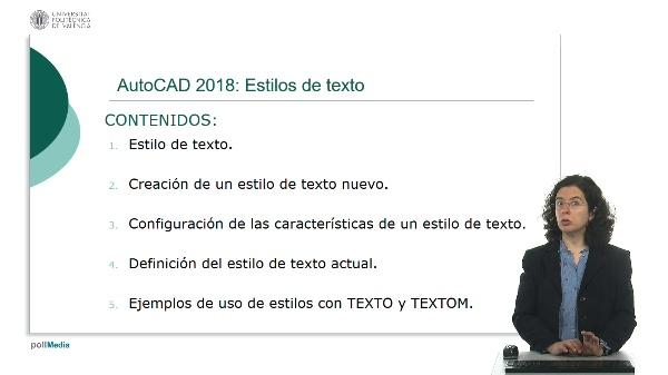 AutoCAD 2018: Estilos de texto