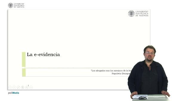 La e-evidencia