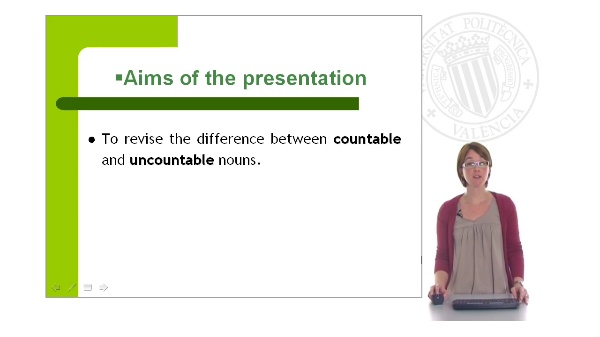 Countable, uncountable nouns and quantifiers