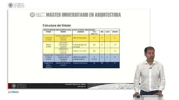 Master Universitario en Arquitectura