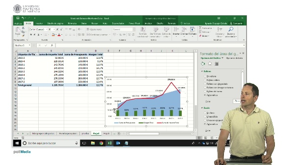 Excel. Gráficos. Panel de datos