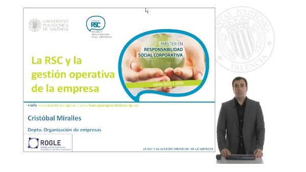 La RSC y la gestion operativa de la empresa. Presentación