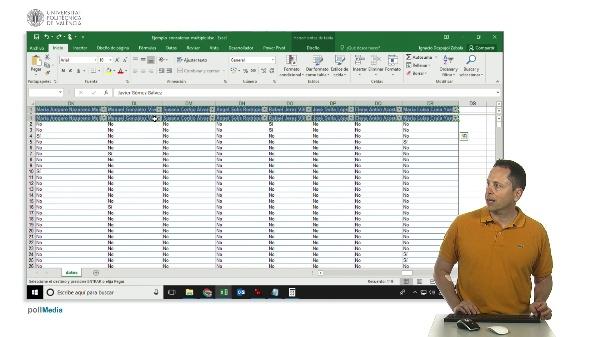 Excel. Concatenación de muchas celdas