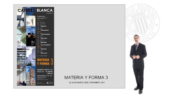 Presentación de las III Jornadas Materia y Forma