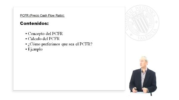 PCFR (Precio Cash Flow Ratio)