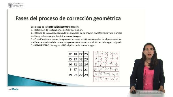 Ejemplo de aplicación del remuestreo mediante interpolación bilineal