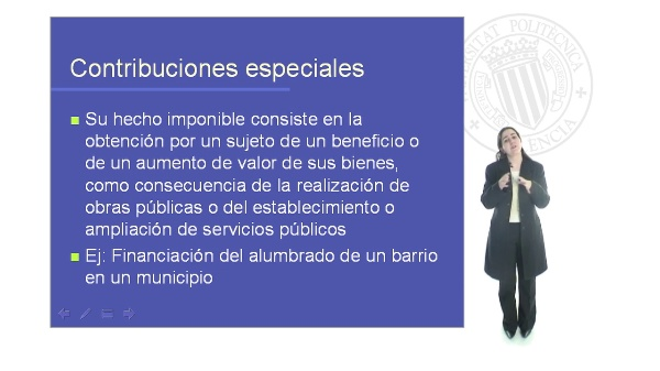 Planificación Fiscal. Contribuciones especiales