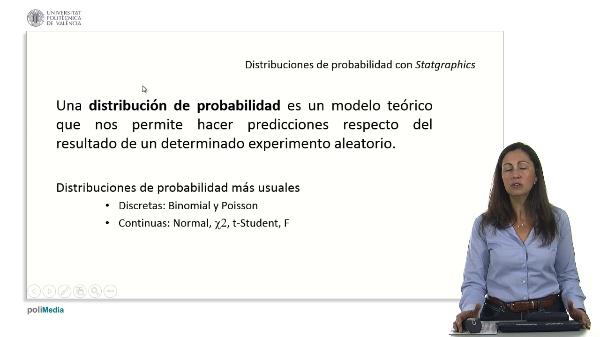 Distribuciones de probabilidad con Statgraphics