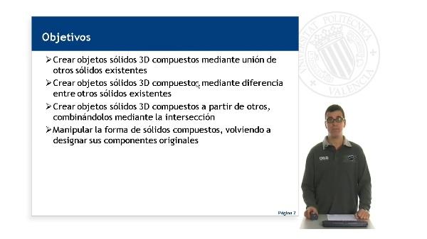 Creación y edición de sólidos 3D compuestos en Autocad