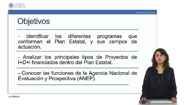 Plan estatal de investigación científica, técnica y de innovación.