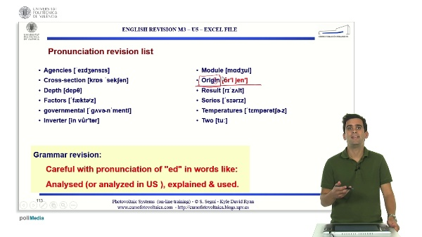 M3.U5.87. Excel file. English Grammar / spelling revision