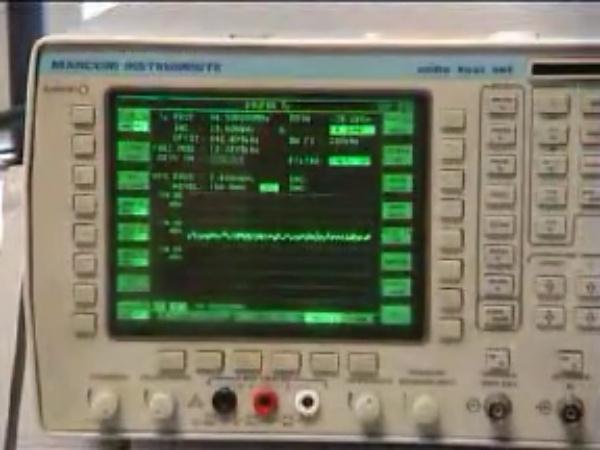 Manejo de un analizador de radiocomunicaciones