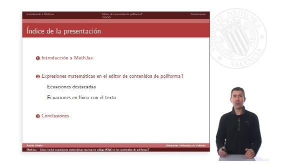 MathJax: Cómo incluir expresiones matemáticas escritas en código LaTeX en los contenidos de poliformaT
