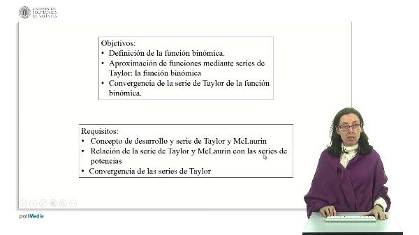 Desarrollo de Tatylor de la función binómica