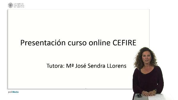 Presentación curso online CEFIRE